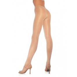 Plus Size Opaquesheer To Waist Tights With Cotton Crotch