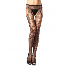 Industrial Fishnet Garter Belt Suspender Nylon Stocking