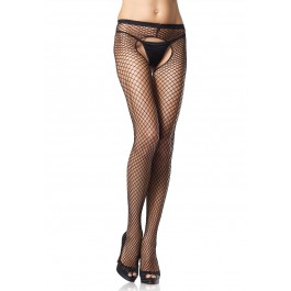 Plus Size Industrial Net Crotchless Pantyhose