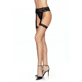 Plus Size Fence Net Garter Belt Stocking