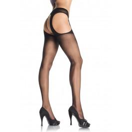 Plus Size Sheer Garterbelt Suspender Nylon Stocking