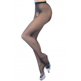 Sheer Nylon Pantyhose With Crotchless