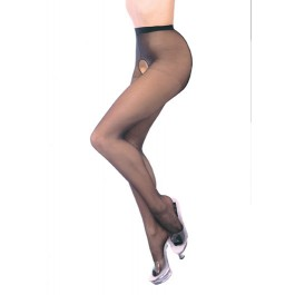 Plus Size Sheer Nylon Crotchless Pantyhose