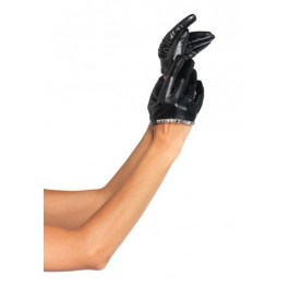 Studded Faux Leather Cropped Glove