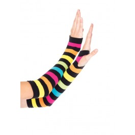 Neon Rainbow Gauntlet Gloves