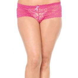 Plus Size Stretch Lace Tanga Panty