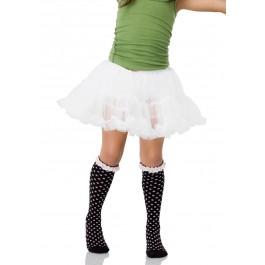 Polka Dot Socks Junior Teen Hosiery With Eyelet Ruffle Trim