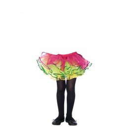 Childrens Enchanted Sequin Trimmed Rainbow Tutu
