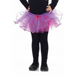 Duel Color Glitter Tulle Petticoat With Sequin Trim