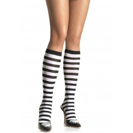 Knee High Stocking Socks With Stripes