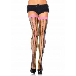 Rainbow Thorn Net Thigh Highs