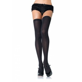 Plus Size Nylon Opaque Thigh Highs