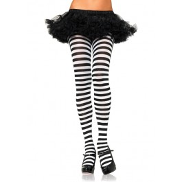 Plus Size Stripe Tights