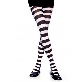 Wide Stripe Opaque Sexy Tights Hosiery Leg Wear