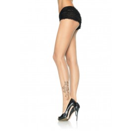 Spandex Sheer Tattoo Print Pantyhose
