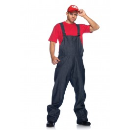 Men's Super Plumber Holiday Party Costume