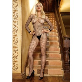 Lycra Fishnet Crotchless Bodystocking