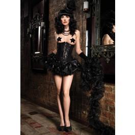 Sequin Burlesque Underbust Corset