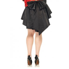 Plus Size Satin Burlesque Skirt