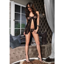 Romantic Lace Babydoll And G-String