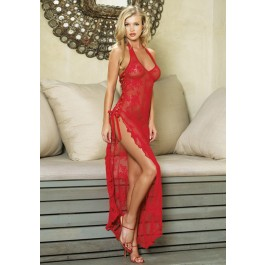 Long Lace Dress With G-String