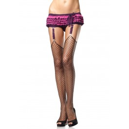 Lycra Industrial Fishnet Stockings With Unfinished Top