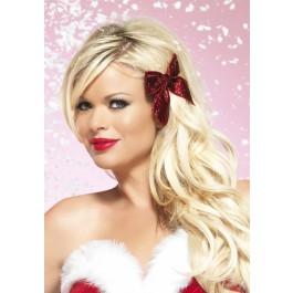 Winter Wonderland Glitter Hair Bow