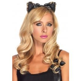 Plush Cheetah Ear Headband