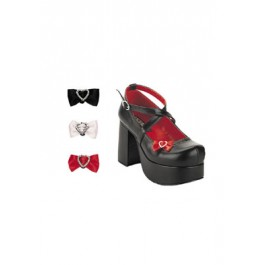 3 1/2 Inch Platform Shoe Women'S Size Shoe With Clip-On Bows