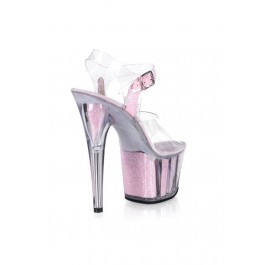 6 1/2 Inch Heel Sandal Women'S Size Shoe With Glitter-Filled Platform