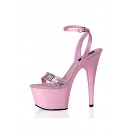 6 1/2 Inch Heel Satin Sandal Women'S Size Shoe