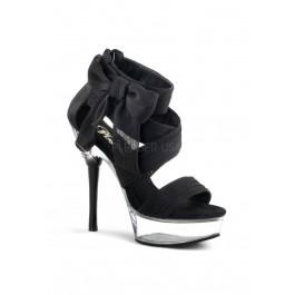5 1/2 Inch Heel, 1 1/2 Inch Platform Criss Cross Sandal