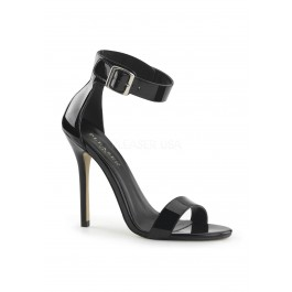 5 Inch Heel, Closed Back Sandal With Buckled Ankle Strap