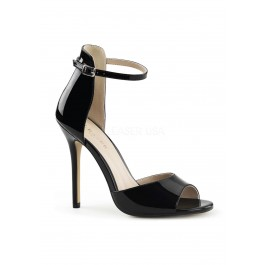 5 Inch Heel, Closed Back Ankle Strap Sandal