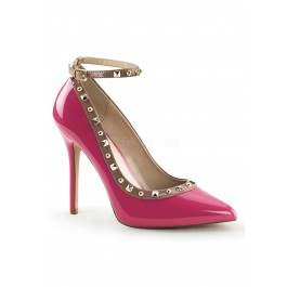 5 Inch Heel, 3/8 Inch Hidden Platform Two Tone Pump