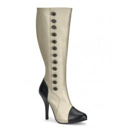 4 1/2 Inch Heel Buttoned Knee Boot Women'S Size Shoe