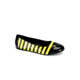 Cute Bee Striped Flats Women'S Size Shoe