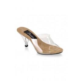 3 Inch Pointy Heel Clear Slip-On Women'S Size Shoe