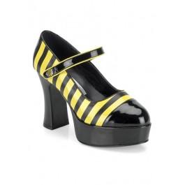 4 Inch Heel Bumble Bee Platform Women's Size Shoe
