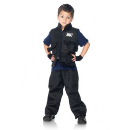 2 Pc Swat Officer Childs Costume