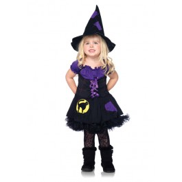 2Pc Black Cat Witch Girl'S Cute Kids Costumes