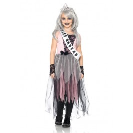 4 Pc Zombie Prom Queen Childs Costume