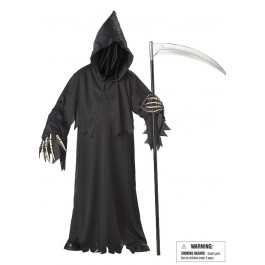 Grim Reaper Deluxe Scary Kids Ghost Costume