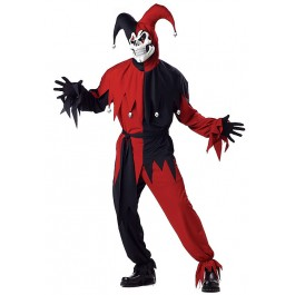 Mens Evil Jester Horror Party Costume