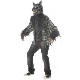 Men'S Full Moon Madness Werewolf Scary Horror Party Costume