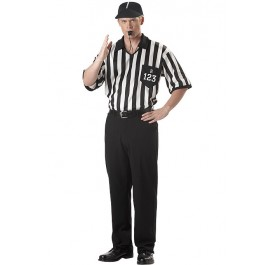 Men'S Referee Shirt Sports Party Costume