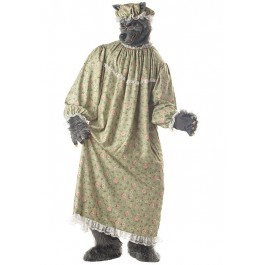 Men'S Wolf Granny Fairytale Party Costume