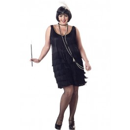 Plus Size Fashion Flapper Holiday Party Costume