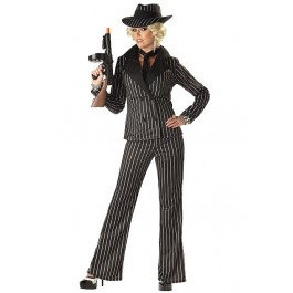 Gangster Lady Sexy Mobster Party Costume