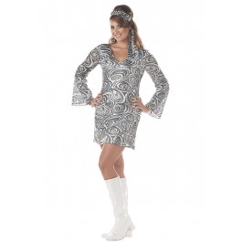 Disco Diva Sexy Retro Go Go Holiday Party Costume